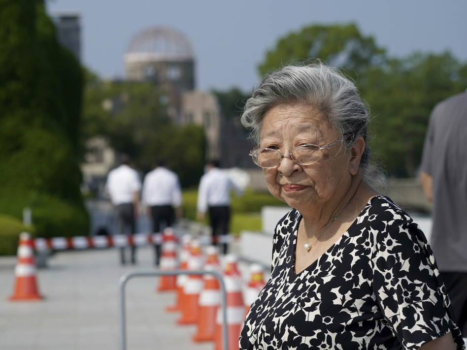 Koko Kondo at Hiroshima Peace Memorial Museum in Hiroshima, Japan, on August 5, 2020. Kondo was determined to get revenge on the person who dropped the atomic bomb on her city. Then, she met him.