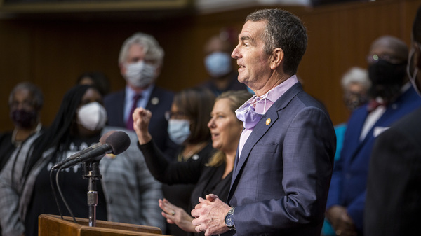 Virginia Gov. Ralph Northam speaks during a news conference on June 4, 2020 in Richmond. Last month, the governor wrote to the state