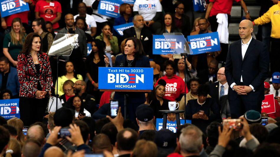 Harris endorsed Joe Biden in March. (Jeff Kowalsky/AFP via Getty Images)