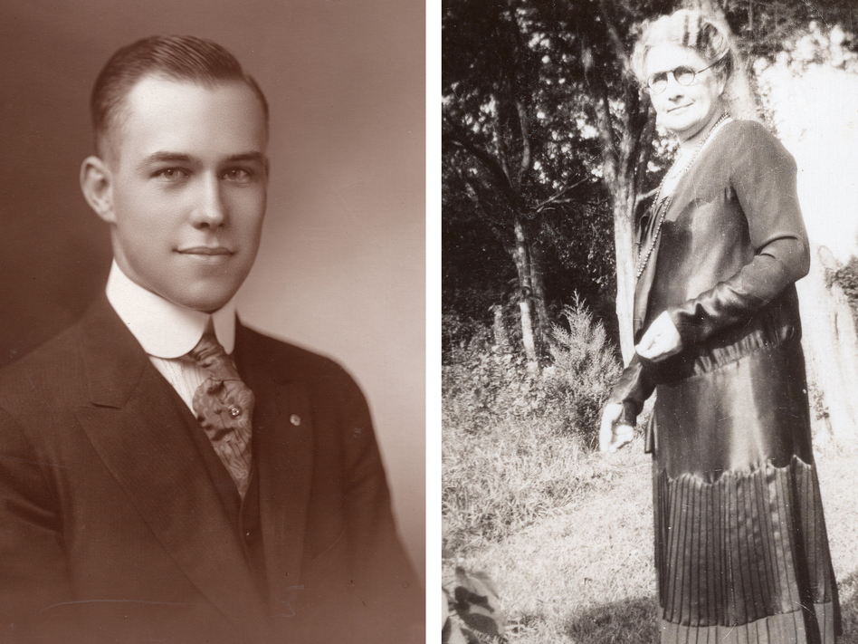 Tennessee freshman delegate Harry Burn and his mother Febb, who urged him to vote for the 19th amendment in a letter. (Burn Family)