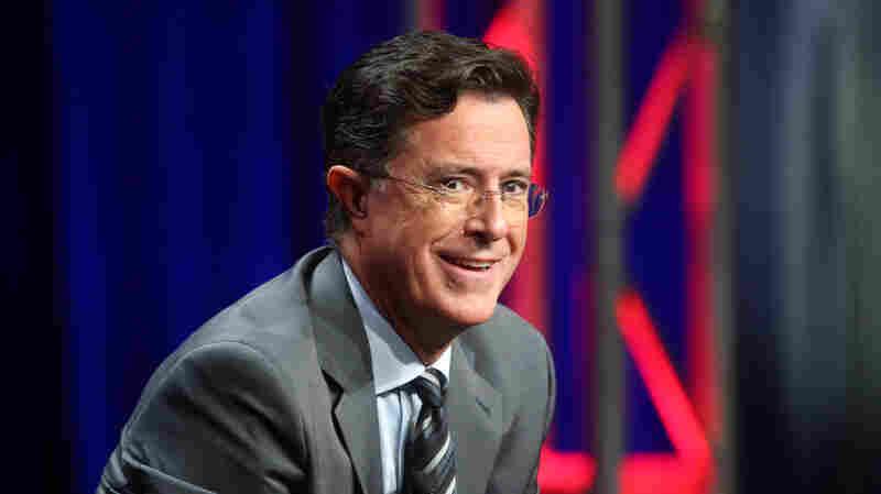 Stephen Colbert speaks on a panel on Aug. 10, 2015, in Beverly Hills, Calif.