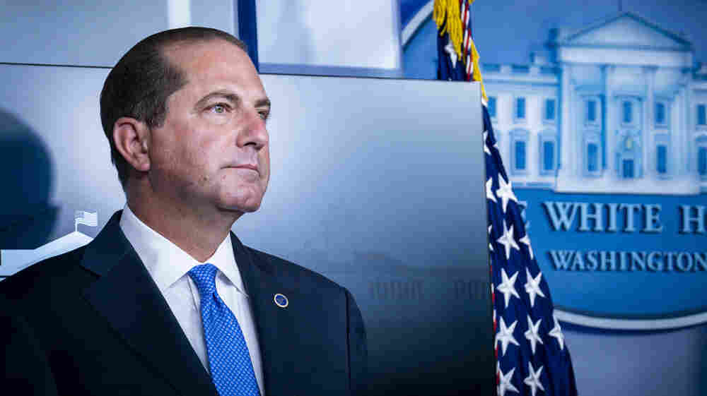 HHS Chief Alex Azar Defends Authorization Of Plasma To Treat COVID-19