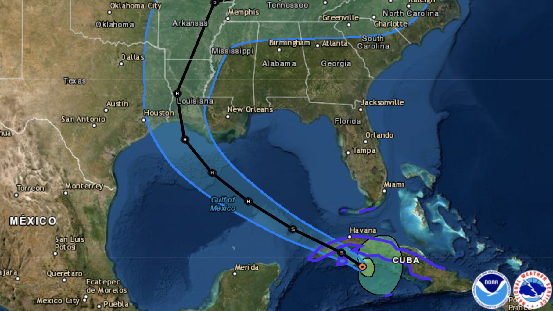 Storm Updates: Laura Is Predicted To Be Category 2 Hurricane In Gulf; Marco Fizzles