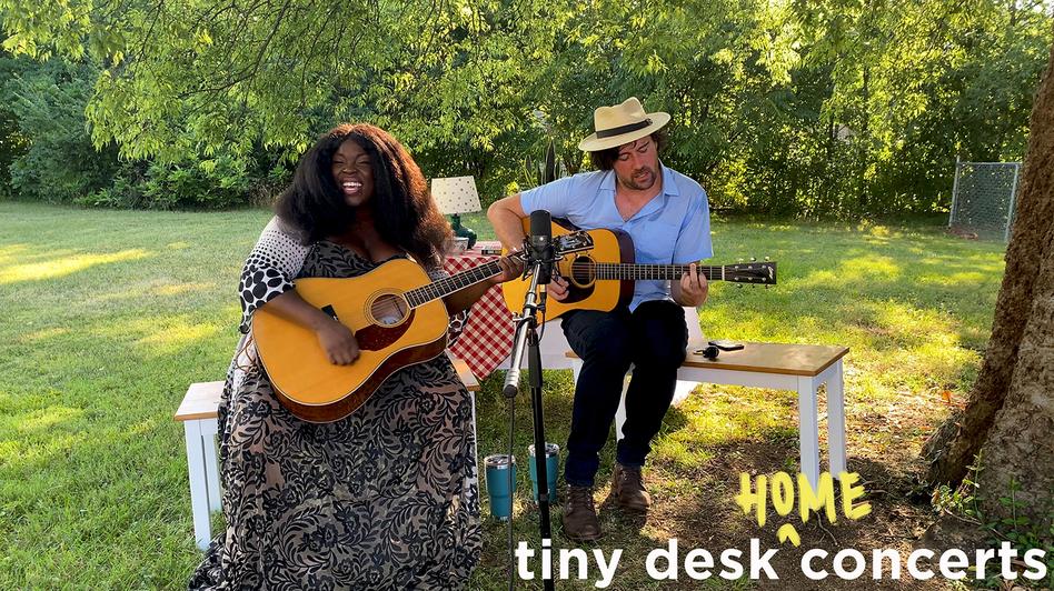 Yola plays a Tiny Desk home concert. (NPR/NPR)