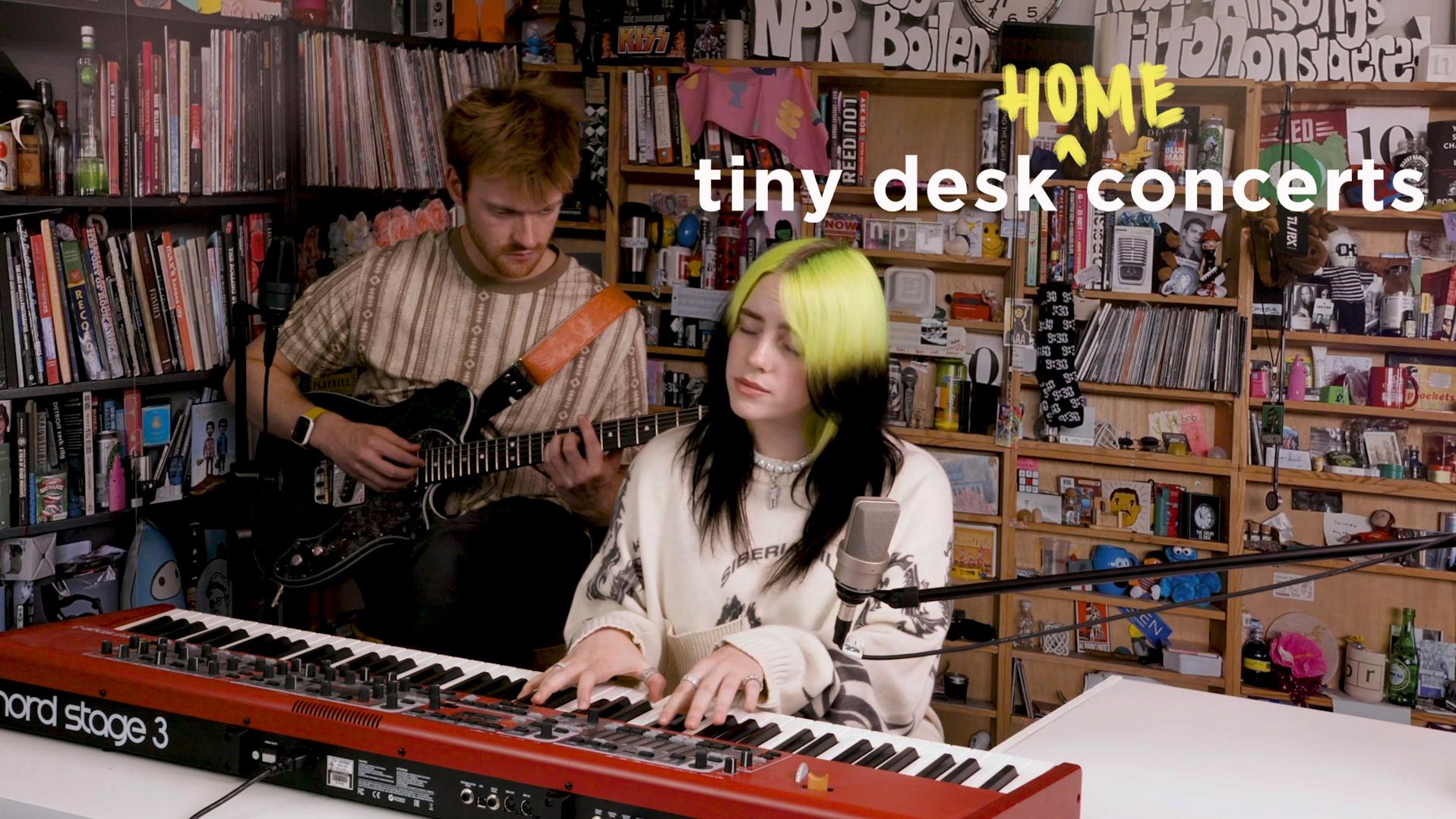 Watch Billie Eilish Perform A Tiny Desk Concert (From Home) : NPR