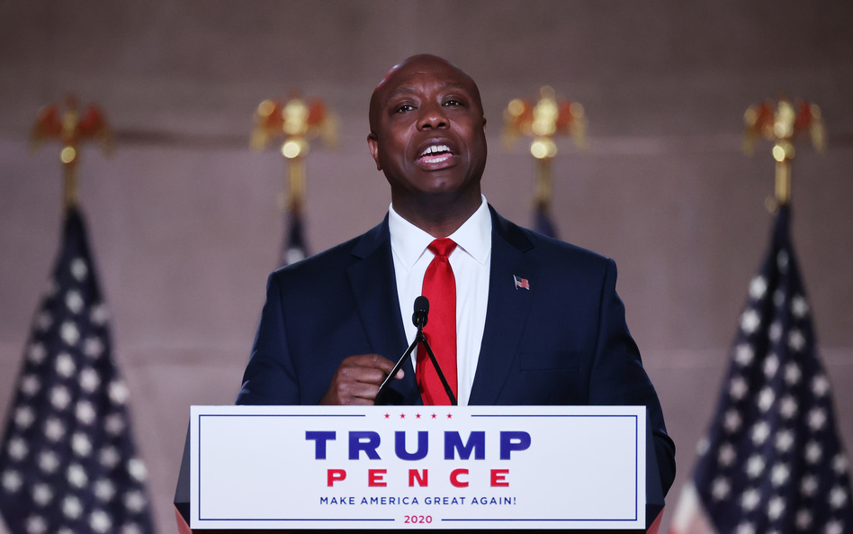 Sen. Tim Scott, R-S.C., gave a policy-driven and hopeful speech at the Republican National Convention on Monday. (Chip Somodevilla/Getty Images)