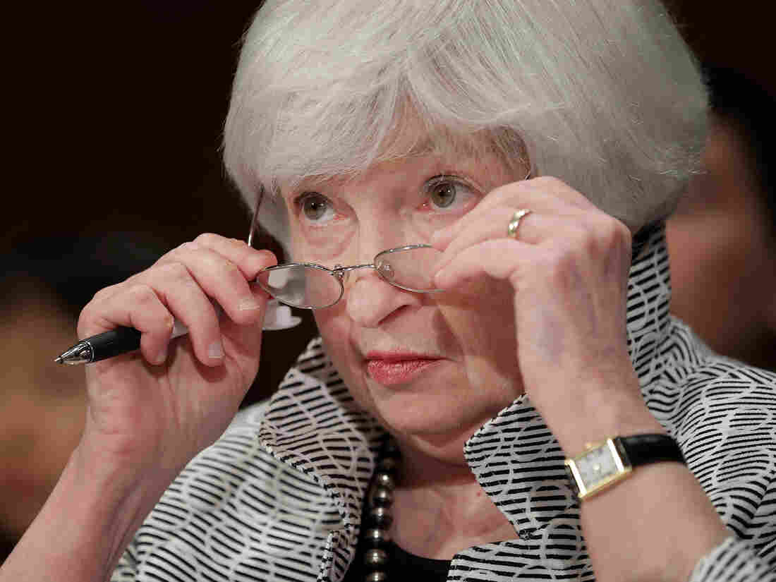 WASHINGTON, DC - JULY 13: Federal Reserve Board Chairwoman Janet Yellen testifies before the Senate Banking, Housing and Urban Affairs Committee in the Dirksen Senate Office Building on Capitol Hill July 13, 2017 in Washington, DC. (Photo by Chip Somodevilla/Getty Images)
