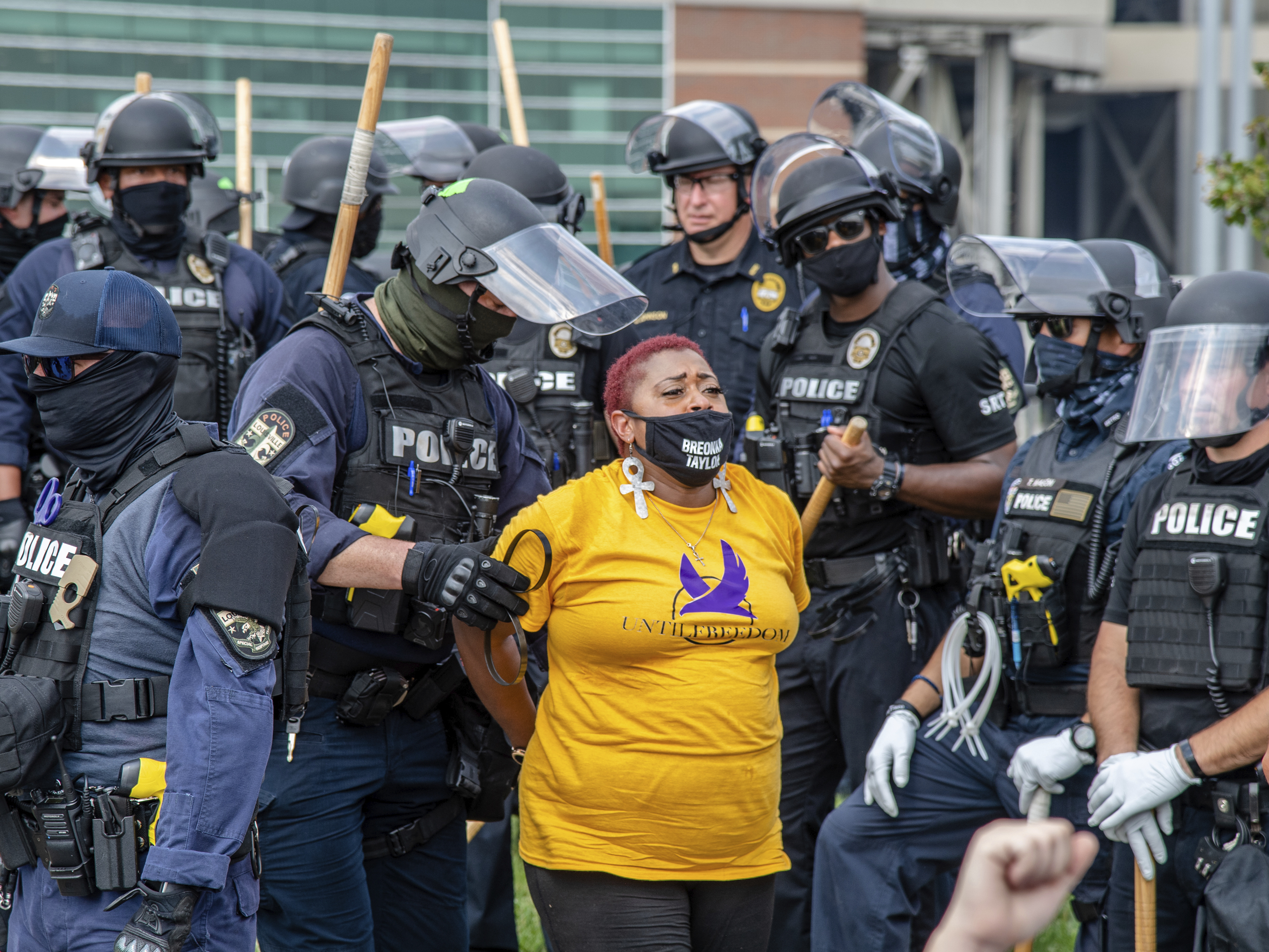 Dozens Arrested In Louisville Protest Demanding Justice For Breonna Taylor Live Updates Protests For Racial Justice Npr