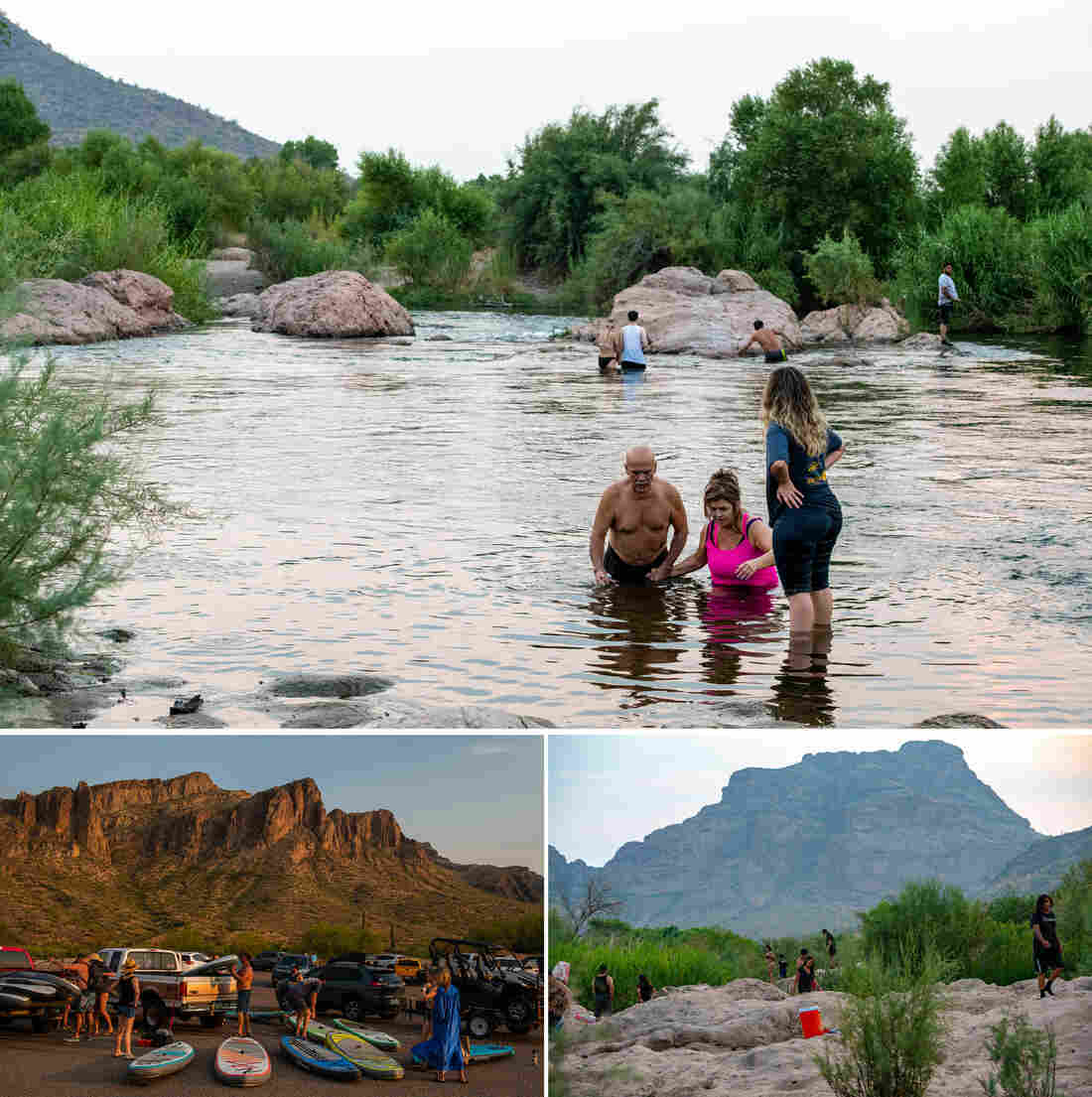 The Salt River, in Arizona, a popular place for locals to swim, fish, or go tubing in the hot summer months became even more of an escape point during the pandemic according to photographer Ash Ponders.