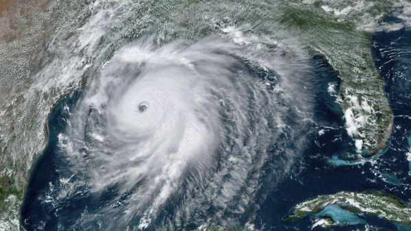 Hurricane Laura approaches the Gulf Coast of the U.S. on August 26. The storm rapidly intensified before it made landfall.