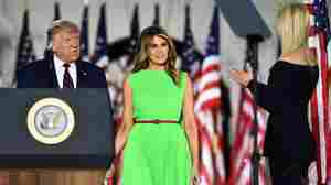 Melania Trump's Bright Green Dress On Final RNC Night Screams Meme