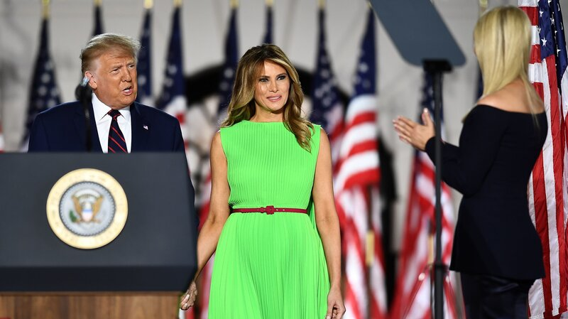 At Rnc Melania Trump S Bright Green Dress Screams Meme Npr