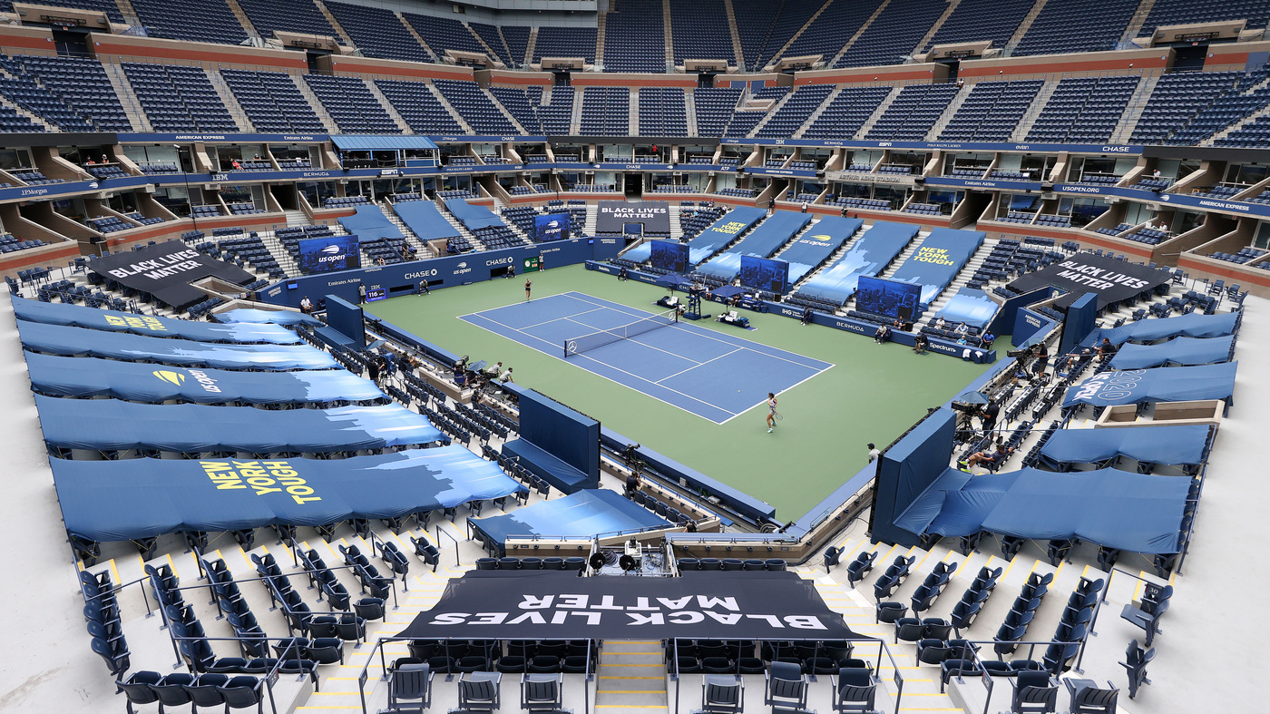 With Fans Forbidden Due To COVID-19, A Noticeably Quiet U.S. Open Kicks Off  In Queens : Coronavirus Updates : NPR