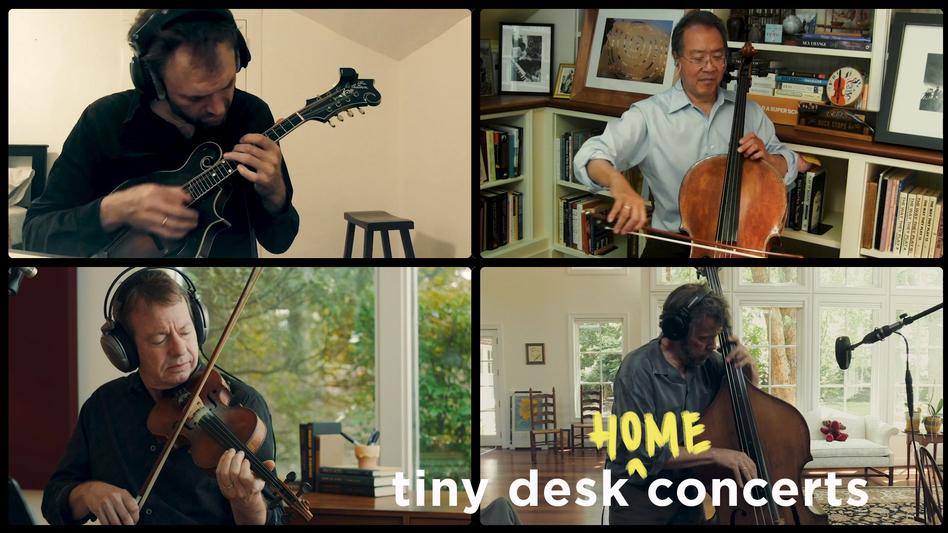 Yo-Yo Ma, Stuart Duncan, Edgar Meyer and Chris Thile plays a Tiny Desk (home) concert.
