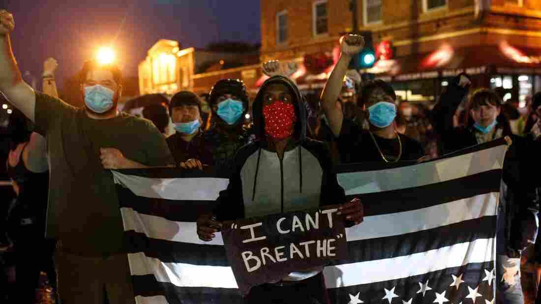 Front line of a Black Lives Matter Protest 2020
