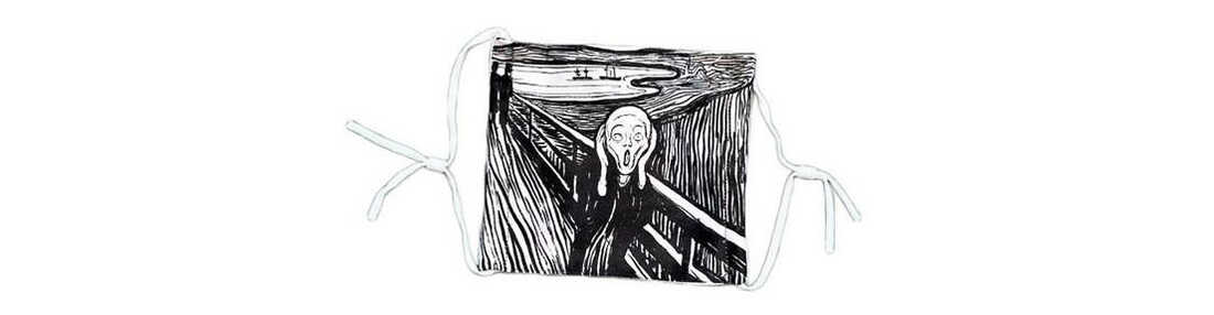 A mask inspired by Edvard Munch's The Scream from Milwaukee Art Museum