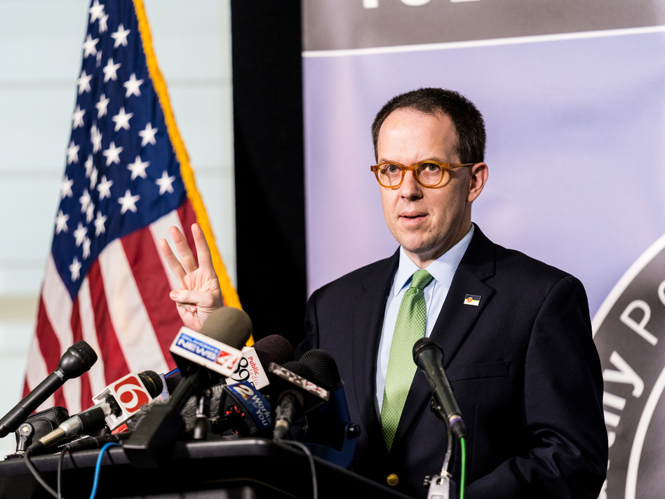 Tulsa Mayor G.T. Bynum, here during a news conference in June, said he won't comment on the pending litigation, according to his office. (Christopher Creese/Bloomberg via Getty Images)