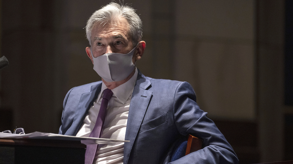 Federal Reserve Chairman Jerome Powell testifies during a House committee hearing in June. (Tasos Katopodis/AP)