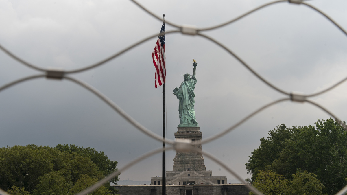The Statue of Liberty, photographed on Aug. 14, 2019 in New York.