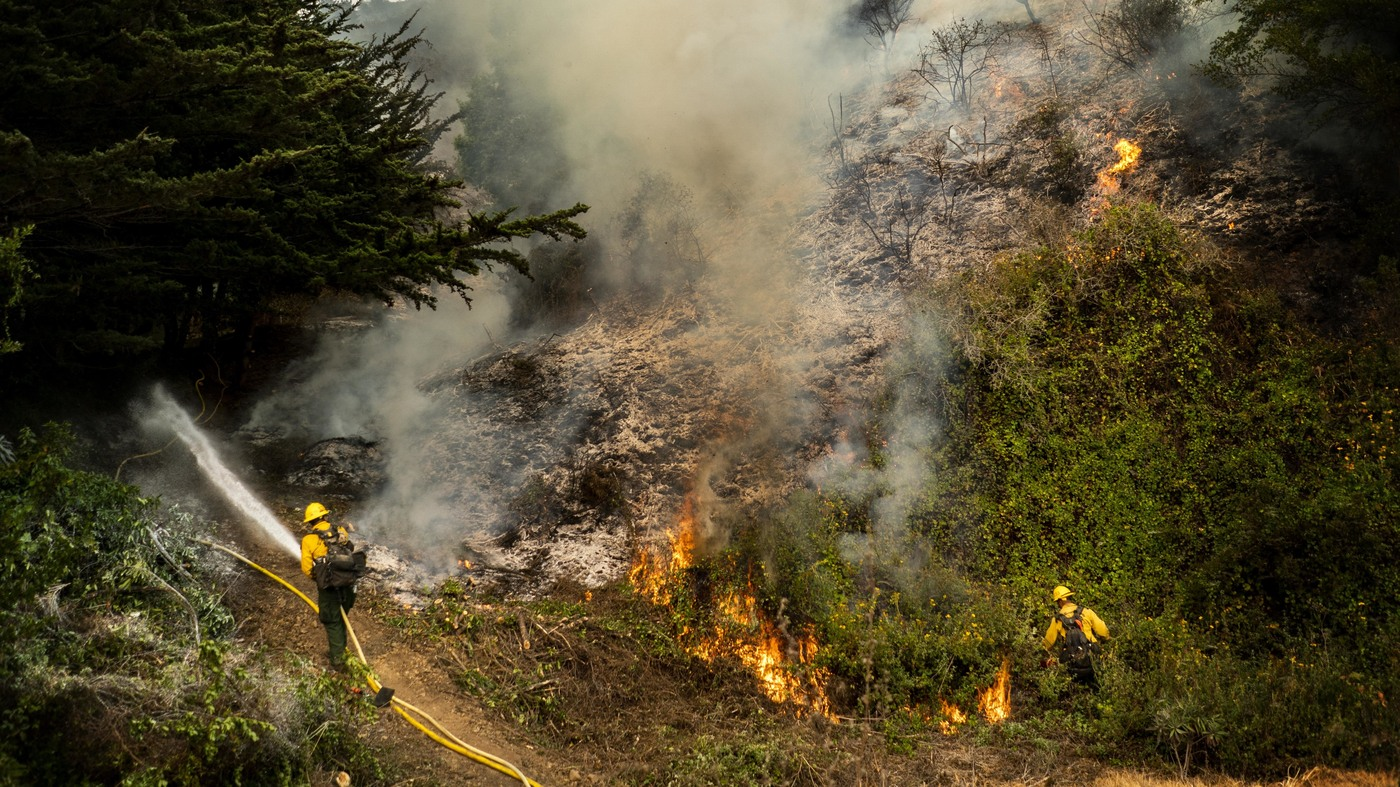 3 Firefighters Hospitalized With Injuries From Battling Wildfire In California – NPR