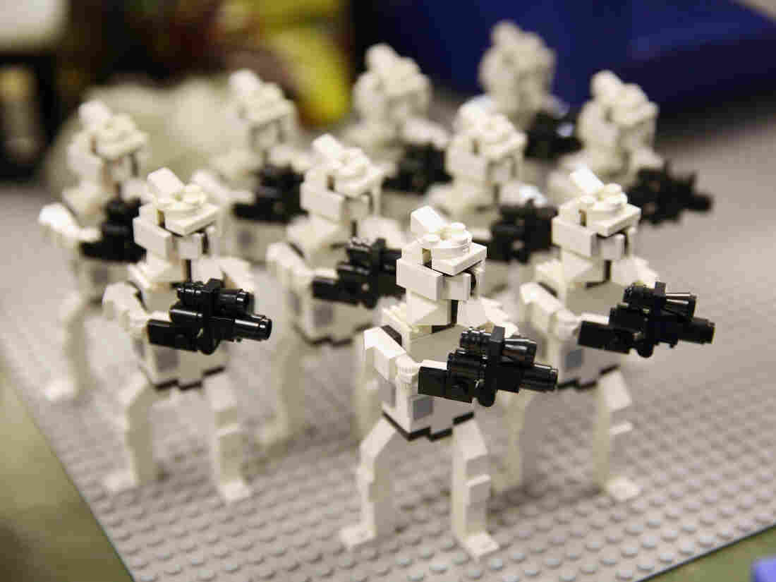 WINDSOR, ENGLAND - JULY 03: Star Wars figures created by LEGO Model Makers in the Model Making Studio at the LEGOLAND Windsor Resort on July 3, 2013 in Windsor, England.  (Photo by Oli Scarff/Getty Images)