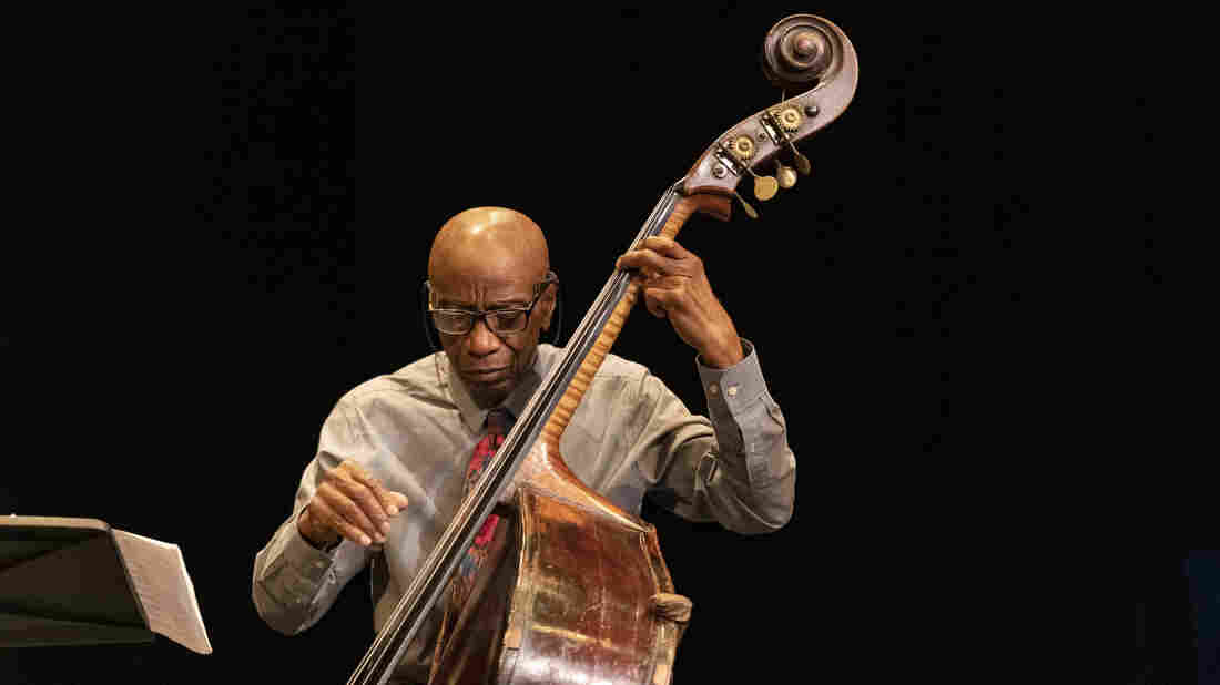 Reggie Workman performs at the 11-hour 'Wall to Wall John Coltrane' marathon concert in New York on June 9, 2019.
