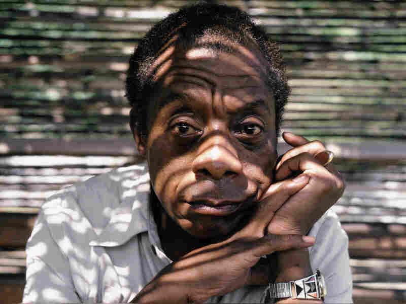 James Baldwin poses while at home in Saint Paul de Vence, France, September 1985.