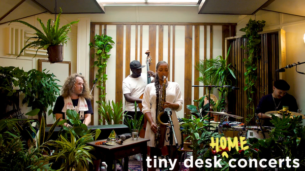 Nubya Garcia plays a Tiny Desk (home) concert.