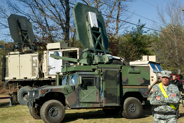 The Active Denial System, or ADS, is mounted on a truck, and when it is aimed at an individual it gives the unpleasant sensation of heat or burning on the skin.