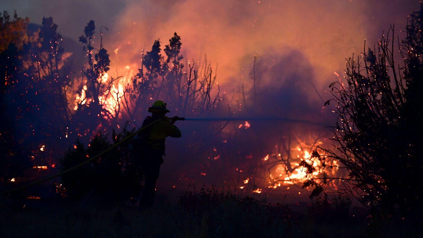 As Firefighters Battle Dozens Of Blazes, California's Bobcat Fire Nears 100,000 Acres