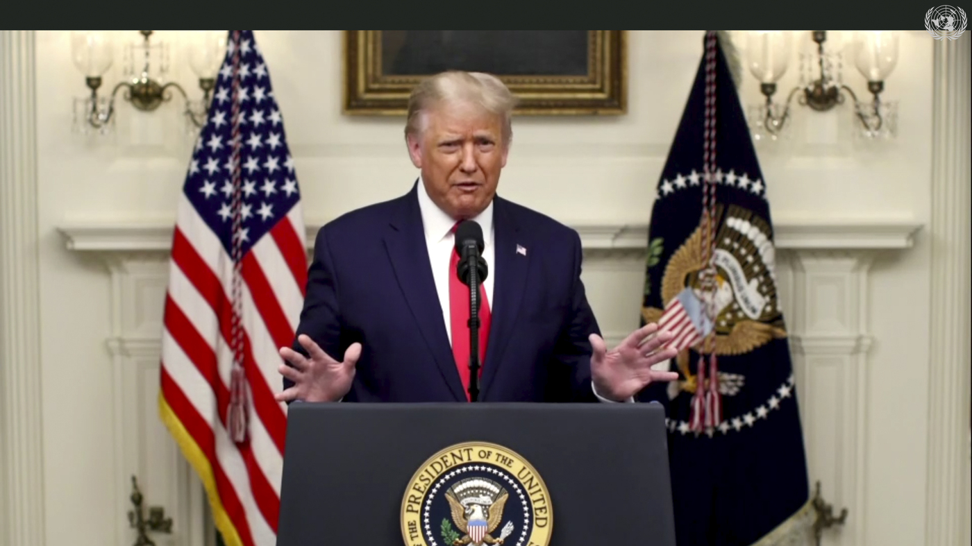 In U.N. Speech, Trump Blasts China And WHO, Blaming Them For Spread Of COVID-19