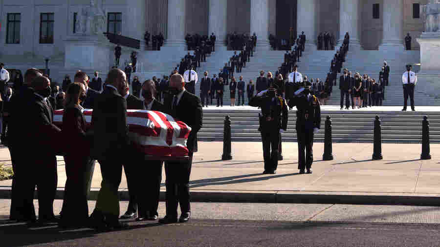 Ginsburg, Role Model And 'Rock Star,' Lies In Repose At Supreme Court