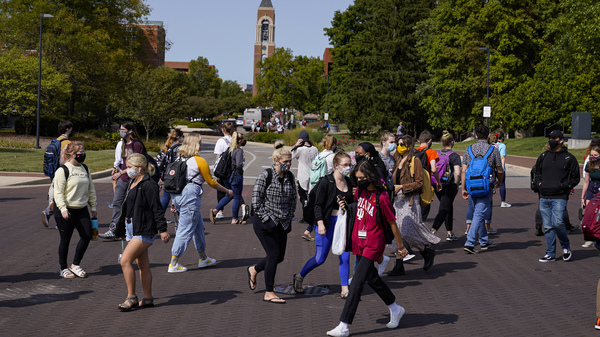 As students return to college campuses, the surrounding communities are seeing an increase in coronavirus infections