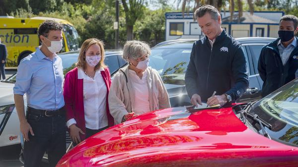 California Gov. Newsom Calls Transition To Electric Cars An 'Economic Imperative'