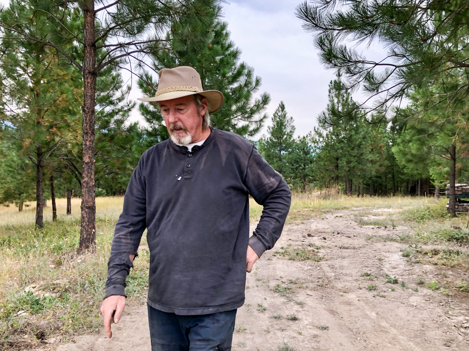 Frank Fahland, 61, is one of hundreds of Libby, Mont., residents who has an asbestos-related disease. That makes them potentially more vulnerable to complications from COVID-19. (Nate Hegyi / Mountain West News Bureau)