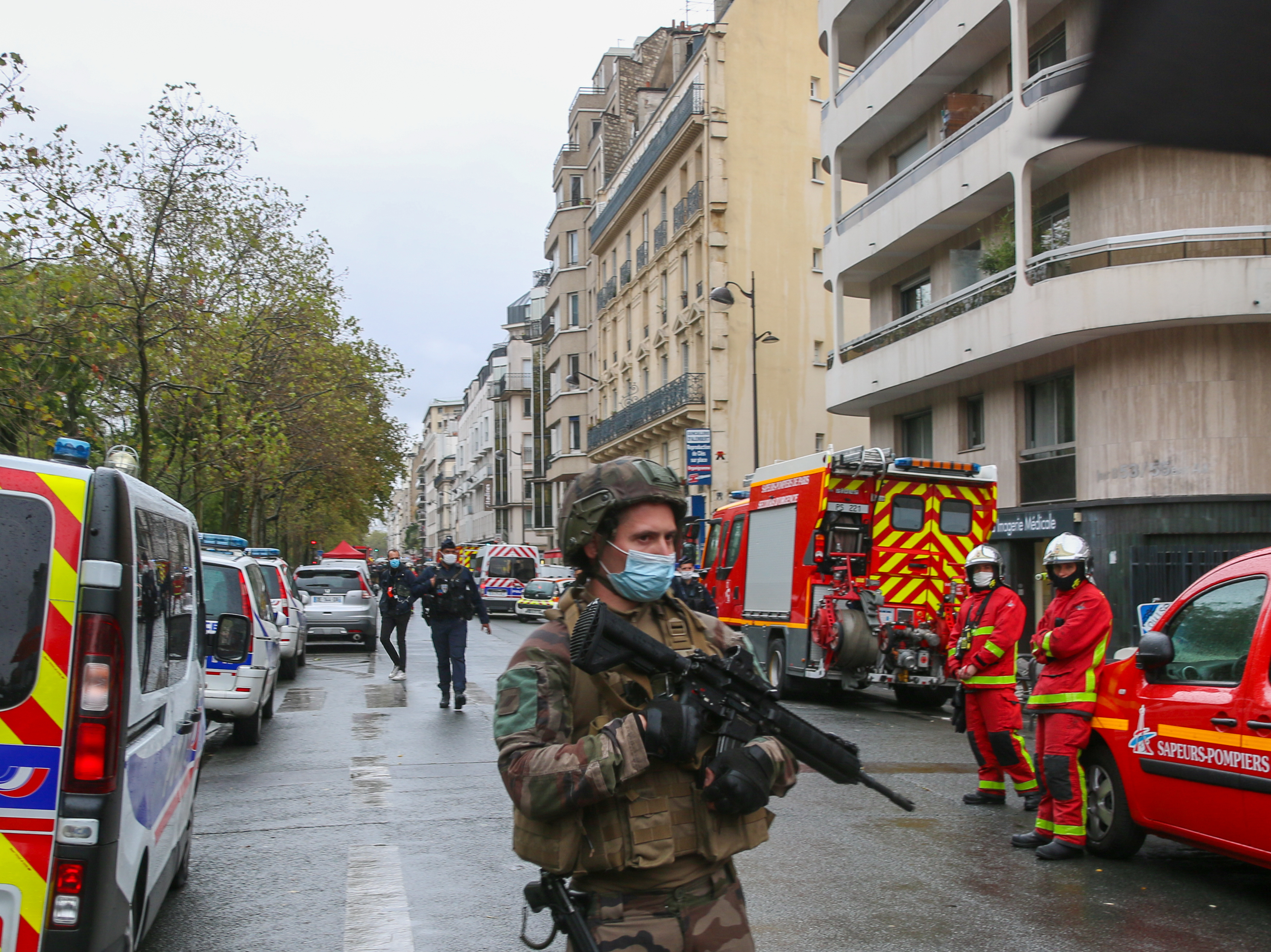Paris Police Suspect Terrorism In Attack Near Former Charlie Hebdo Offices Npr