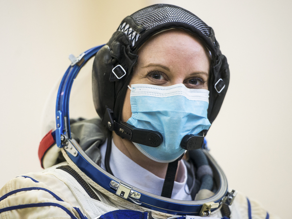 NASA astronaut Kate Rubins is seen during Soyuz qualification exams on Wednesday at the Gagarin Cosmonaut Training Center just outside Moscow. Rubins plans to cast her next vote from space – more than 200 miles above Earth.×