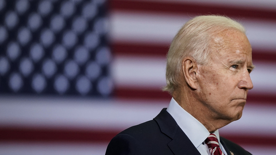 Democratic presidential nominee Joe Biden, pictured on Sept. 15, said in a statement Saturday that the next president should fill the Supreme Court vacancy. (Drew Angerer/Getty Images)