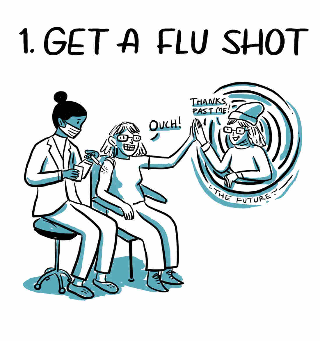 1. Get a flu shot. Your future self will thank you.