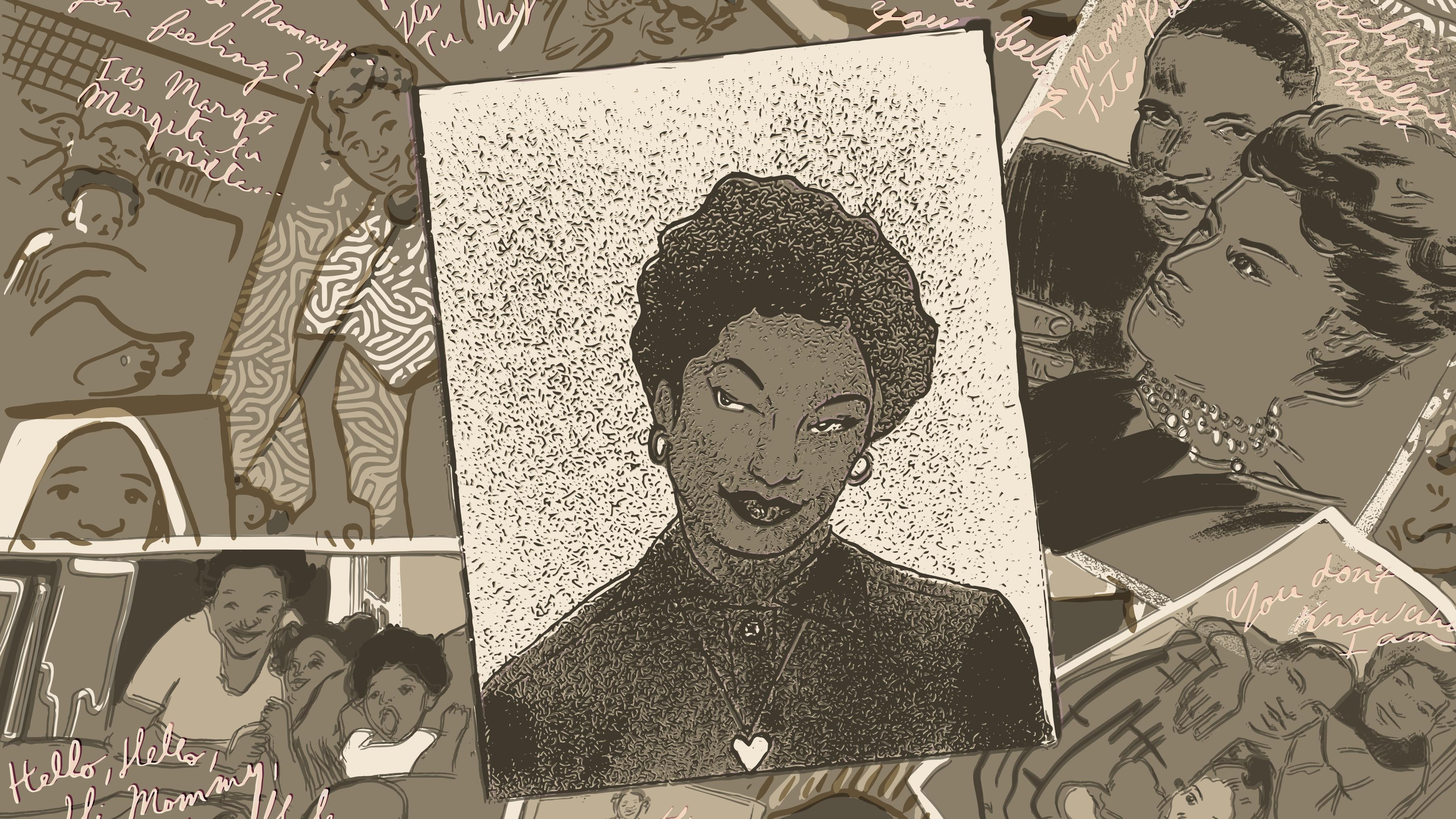 an illustration of photos of Ramona Latty