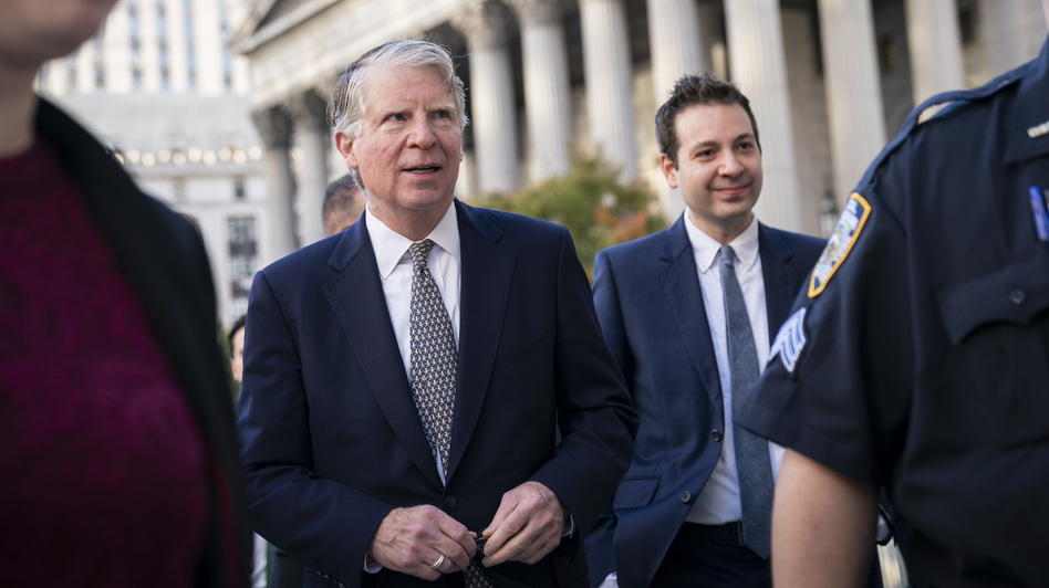 Manhattan District Attorney Cy Vance arrives at federal court for a hearing related to President Trump's financial records in October 2019 in New York City. (Drew Angerer/Getty Images)