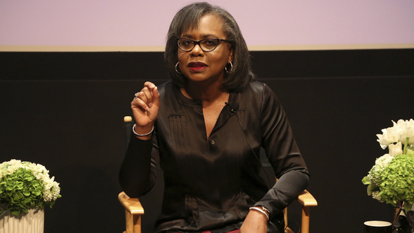Anita Hill (shown here in 2017) is chair of the Hollywood Commission, which intends to combat sexual misconduct and gender inequities across the industry.