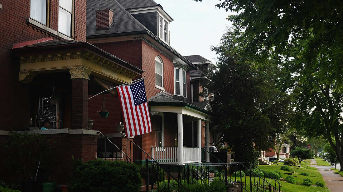 A U.S. flag is displayed in St. Louis, Mo., on May 25.