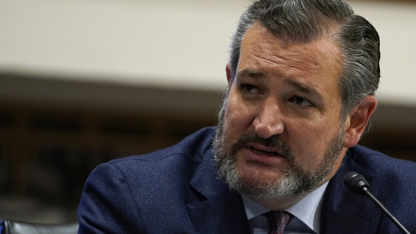 Sen. Ted Cruz, pictured on Capitol Hill on Sept. 24, tells NPR that Amy Coney Barrett should not recuse herself from any Supreme Court decision on the election should she be confirmed.