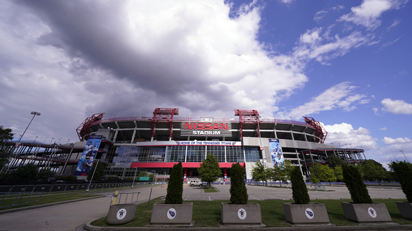 Nissan Stadium, home of the Tennessee Titans, is shown on Tuesday in Nashville, Tenn. The Titans