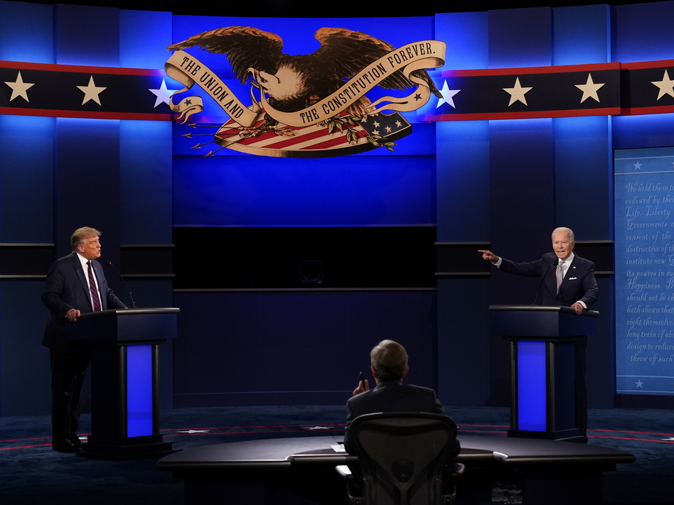 President Trump ran roughshod over debate moderator Chris Wallace and his Democratic opponent Joe Biden — and crossed many lines in the process. (Patrick Semansky/AP)