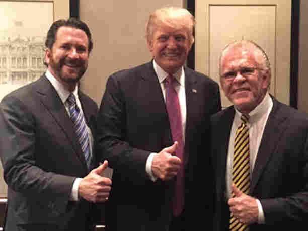 Doug and Darwin Deason pose with President Donald Trump