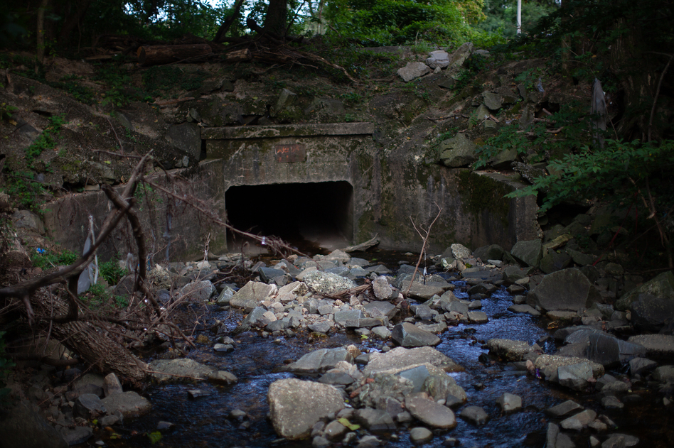 A culvert that overflowed in Harris' Baltimore neighborhood in 2018. Recent flooding in southwest Baltimore surprised many residents, even though climate experts and local officials know that the area is seeing more extreme rain and has a history of flooding.