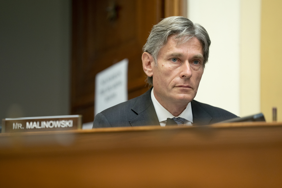Rep. Tom Malinowski, D-N.J., is the lead sponsor of a House resolution condemning QAnon and the conspiracy theories it promotes. (Stefani Reynolds/AP)