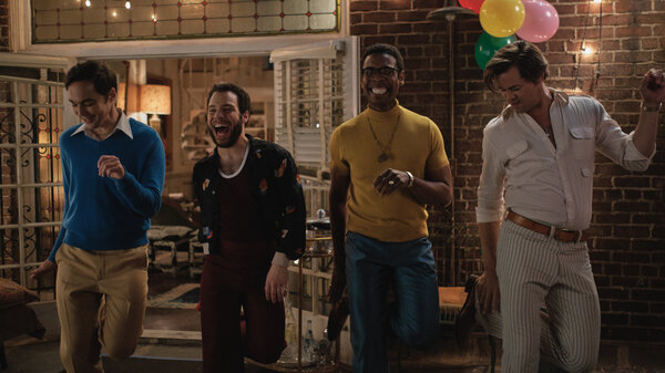 Jim Parsons, Robin De Jesus, Michael Benjamin Washington, and Andrew Rannells star in the new Netflix adaptation of The Boys in the Band.